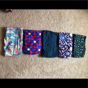 5 pair of LuLaRoe leggings
